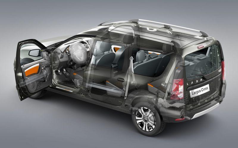 Обзор LADA Новый Largus Cross: фотографии интерьера и экстерьера авто