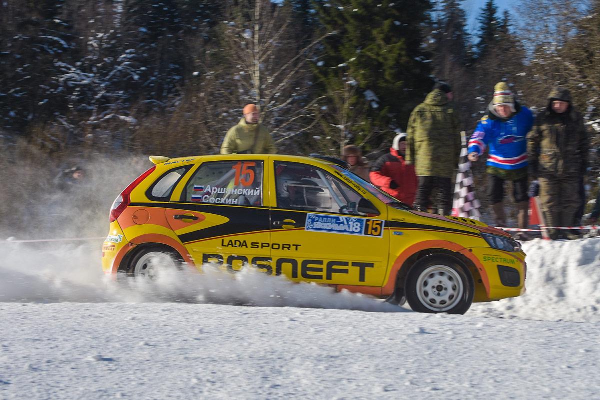 Убедительная победа LADA Sport ROSNEFT на ледовых дорогах Карелии