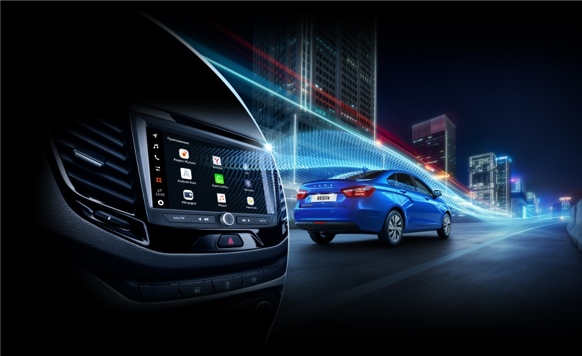 Объявляется старт продаж автомобилей с мультимедийной системой LADA EnjoY Pro с Яндекс.Авто