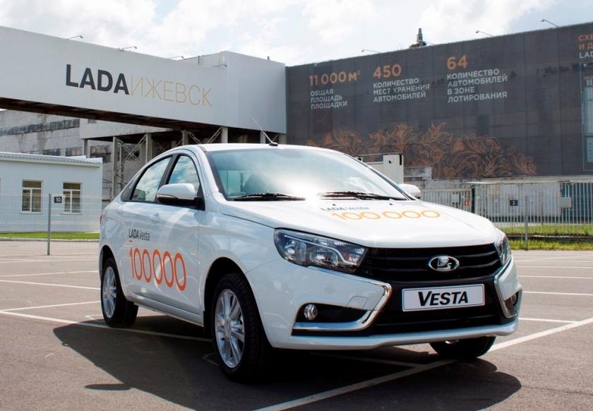 100 000-ая LADA Vesta произведена в Ижевске