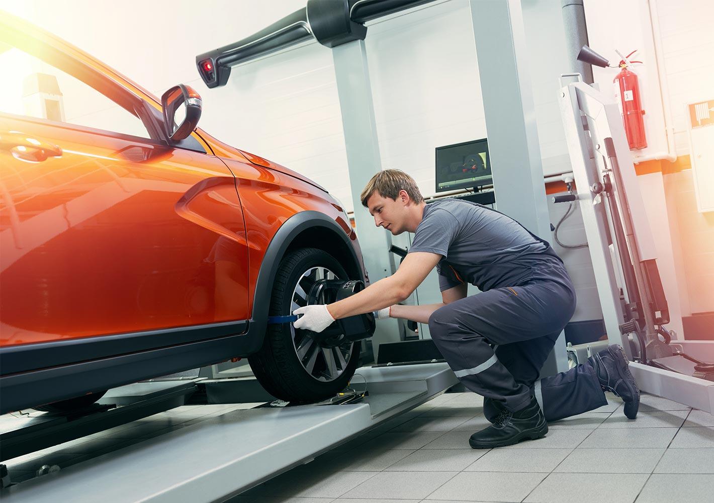 Регулировка углов установки колес
