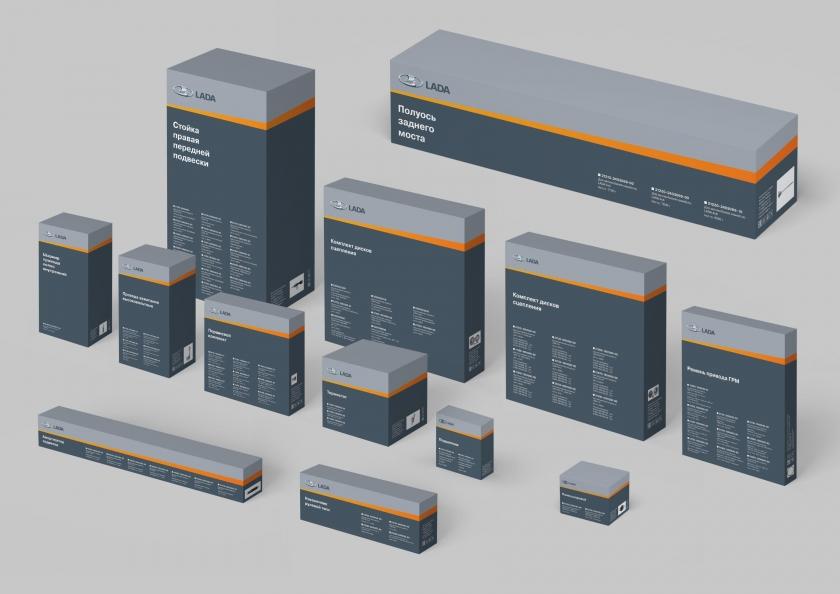 Новая упаковка для оригинальных запчастей LADA