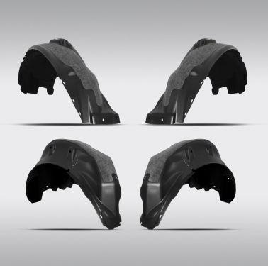 Комплект передних и задних подкрылок с шумоизоляцией