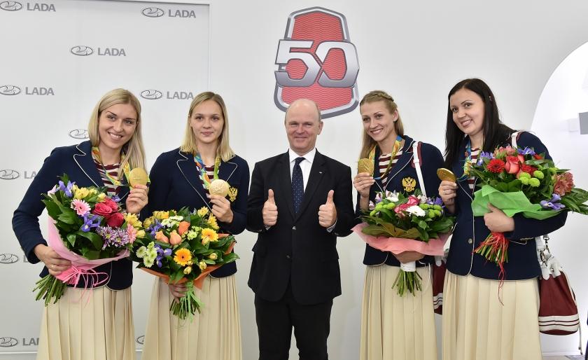 АВТОВАЗ чествует чемпионок Олимпиады в Рио!