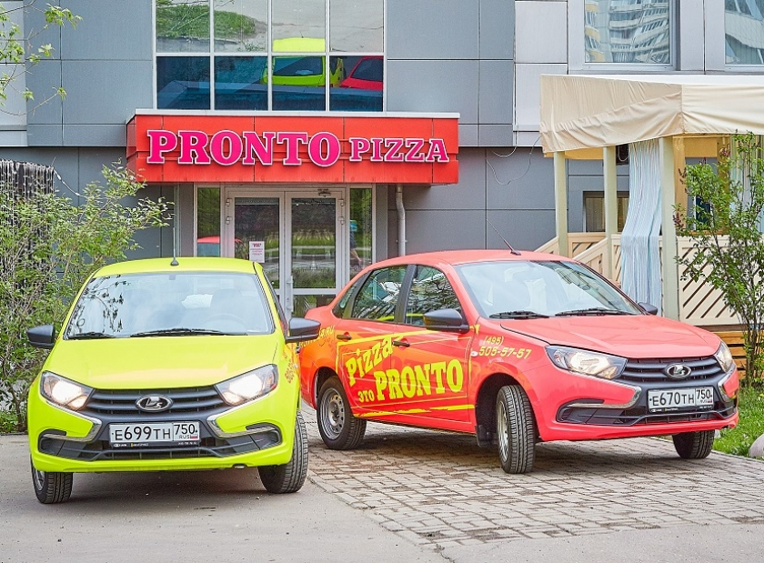 LADA Granta для компании PRONTO PIZZA