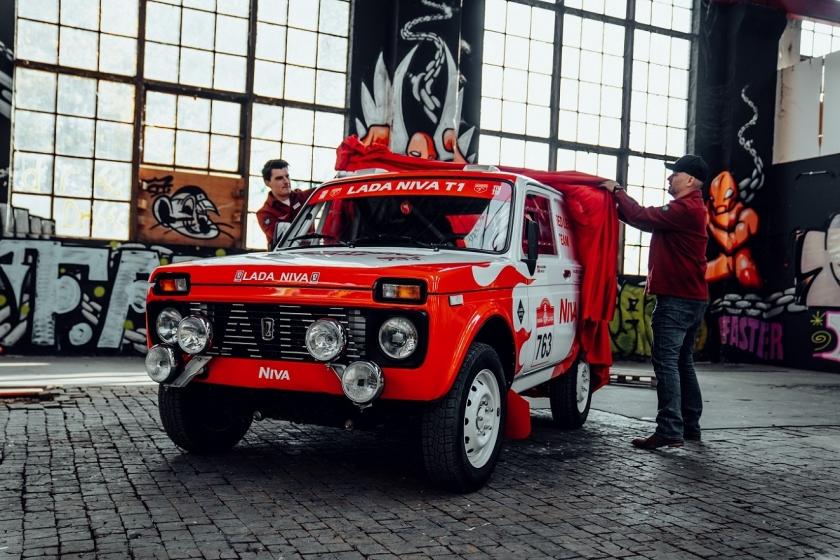 European presentation of the  Niva Red Legend team